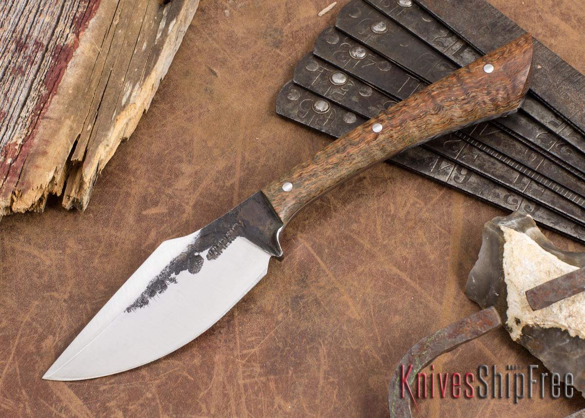 Lon Humphrey Knives: Custom Muley - Forged 52100 - Curly Koa #227 primary image