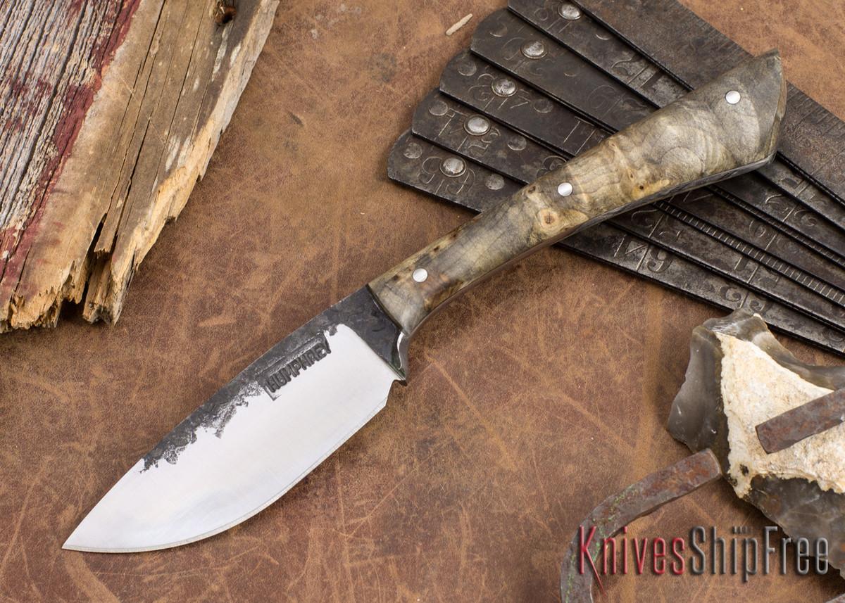 Lon Humphrey Knives: Custom Muley - Forged 52100 - Buckeye Burl #228 primary image