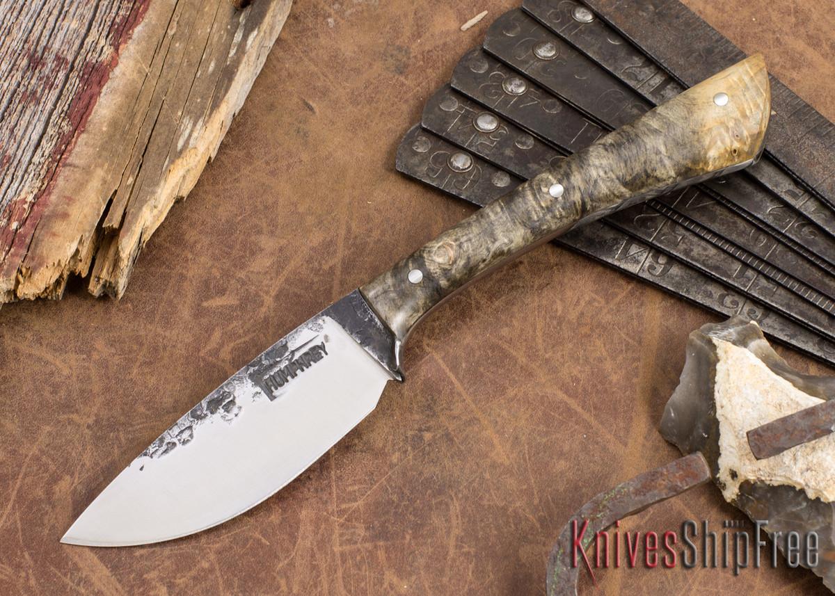 Lon Humphrey Knives: Custom Muley - Forged 52100 - Buckeye Burl #229 primary image