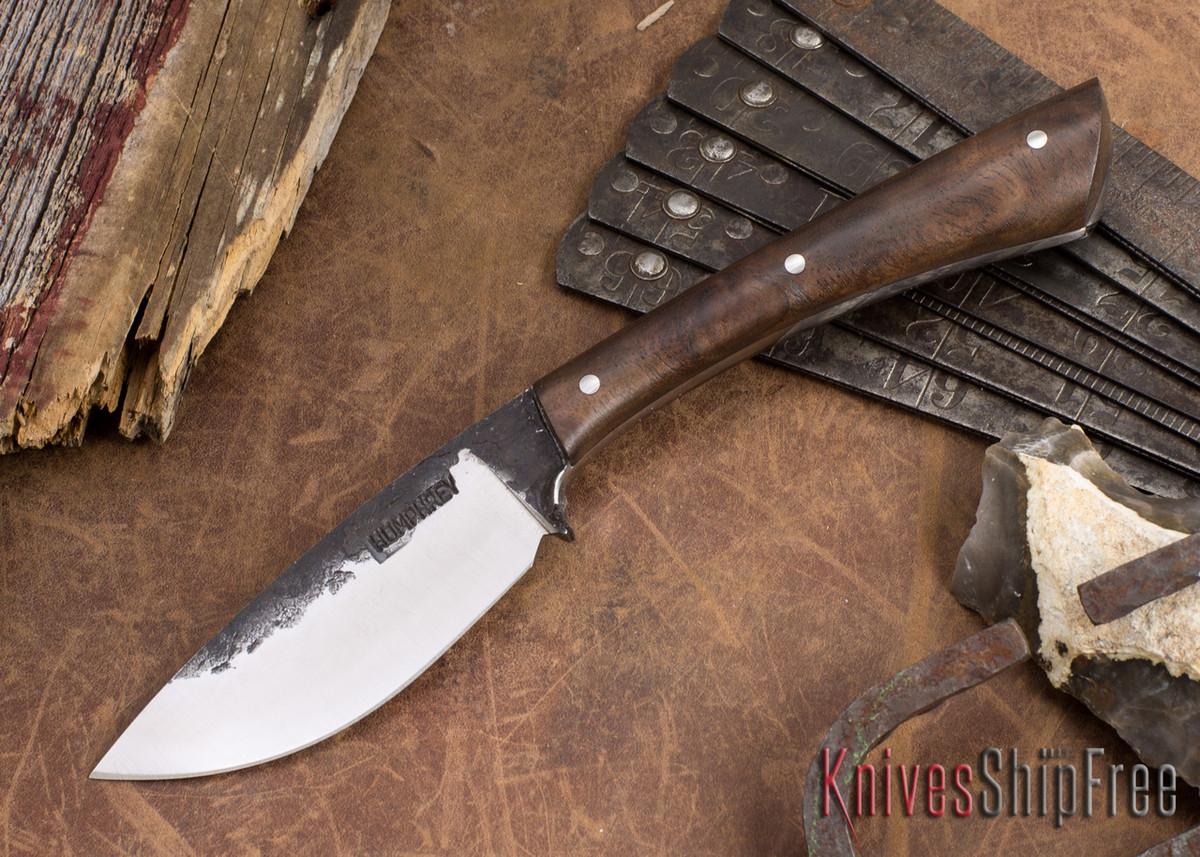 Lon Humphrey Knives: Custom Muley - Forged 52100 - Claro Walnut Burl #248 primary image