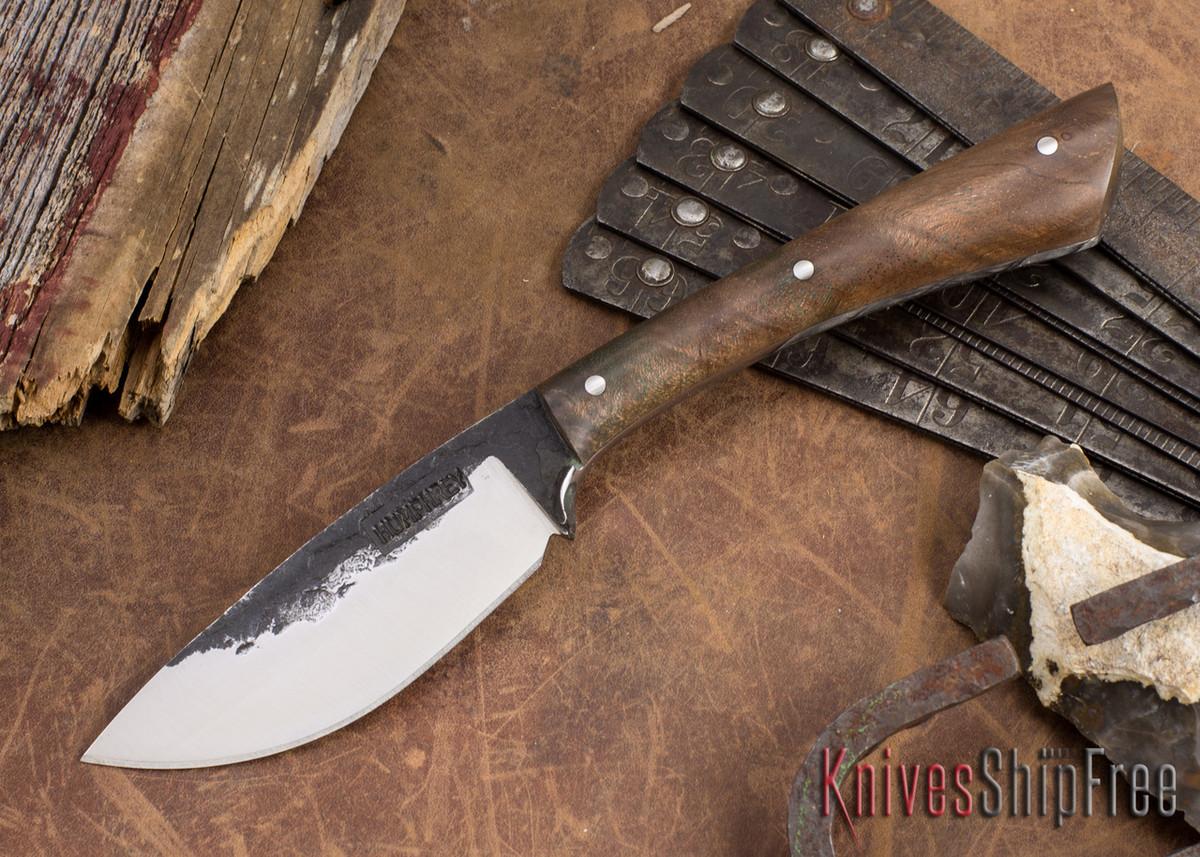 Lon Humphrey Knives: Custom Muley - Forged 52100 - Claro Walnut Burl #252 primary image