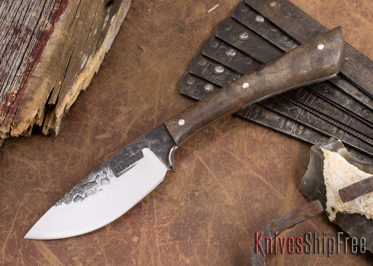 Lon Humphrey Knives: Custom Muley - Forged 52100 - Claro Walnut Burl #254 primary image