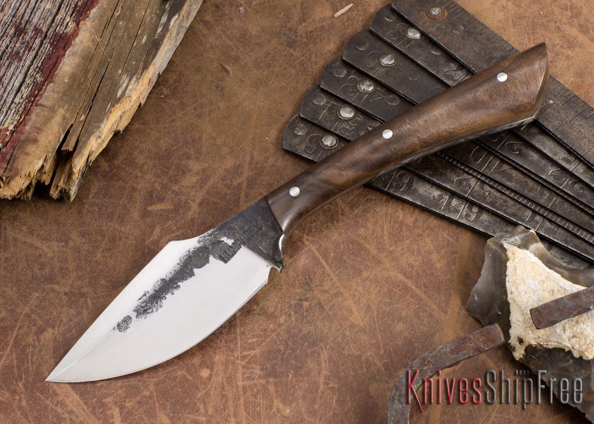 Lon Humphrey Knives: Custom Muley - Forged 52100 - Claro Walnut Burl #257 primary image