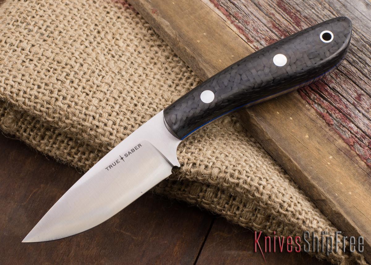 True Saber Knives: Ottawa - Black Carbon Fiber - Blue Liners primary image