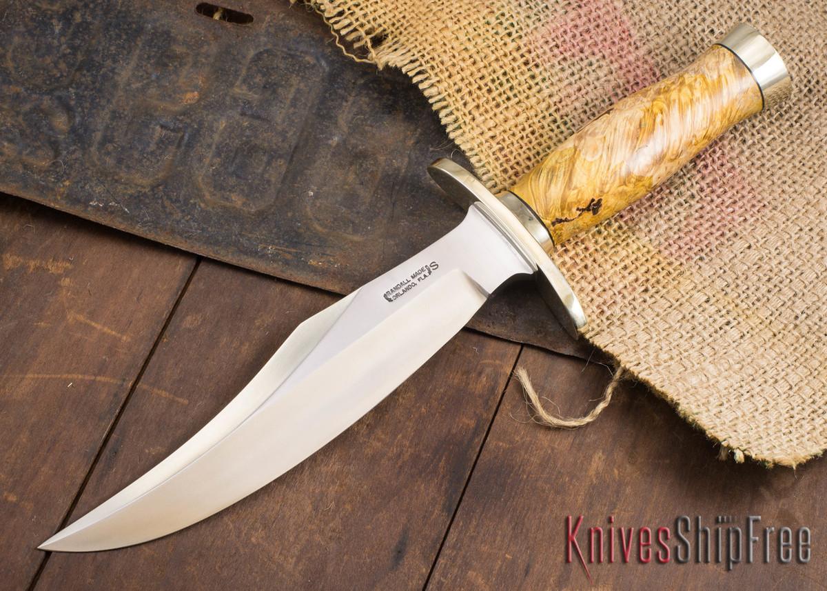 Randall Made Knives: Model 12-8 Bear Bowie - Thuya Burl - 120711 primary image
