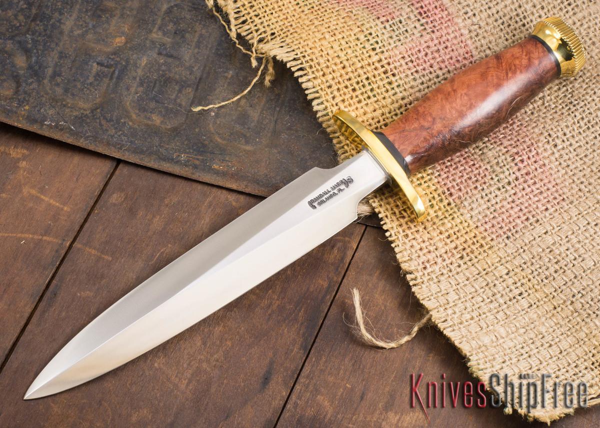 Randall Made Knives: Model 2-8 Fighting Stiletto - Thuya Burl - 120716 primary image