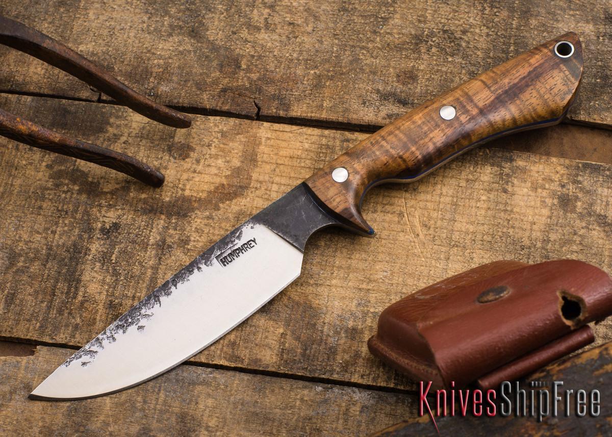 Lon Humphrey Knives: Bridger - Curly Koa - Blue Liners #1 primary image