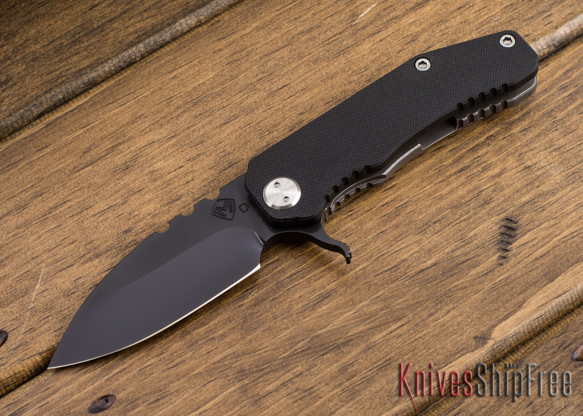 "Medford Knife & Tool: 187 ""F"" Flipper - Black G-10 / Ti -  Gray PVD primary image"