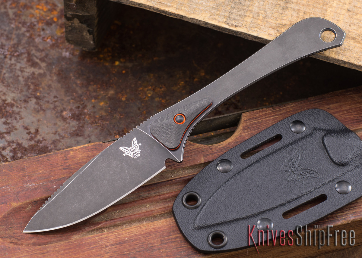 Benchmade Knives: 15200DLC Altitude - Hunt Series - CPM-S90V - Carbon Fiber - Black DLC primary image
