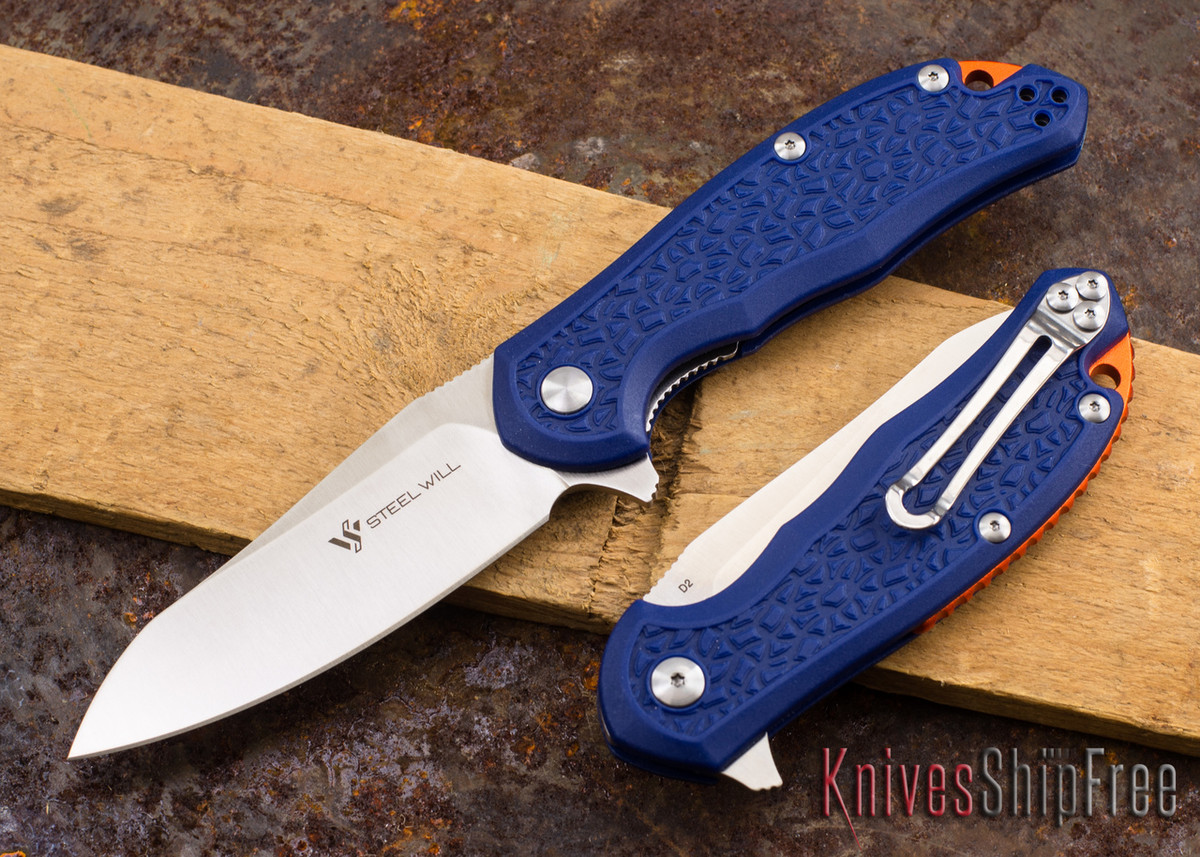 Steel Will Knives: Modus - Blue FRN - D2 Steel primary image