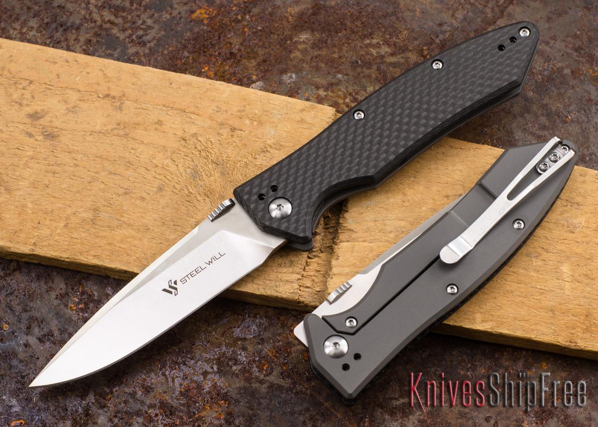 Steel Will Knives: Resident - Titanium & Carbon Fiber - Framelock - D2 Steel primary image