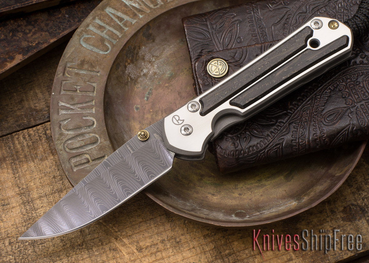 Chris Reeve Knives: Small Sebenza 21 - Bog Oak - Ladder Damascus - 021583 primary image