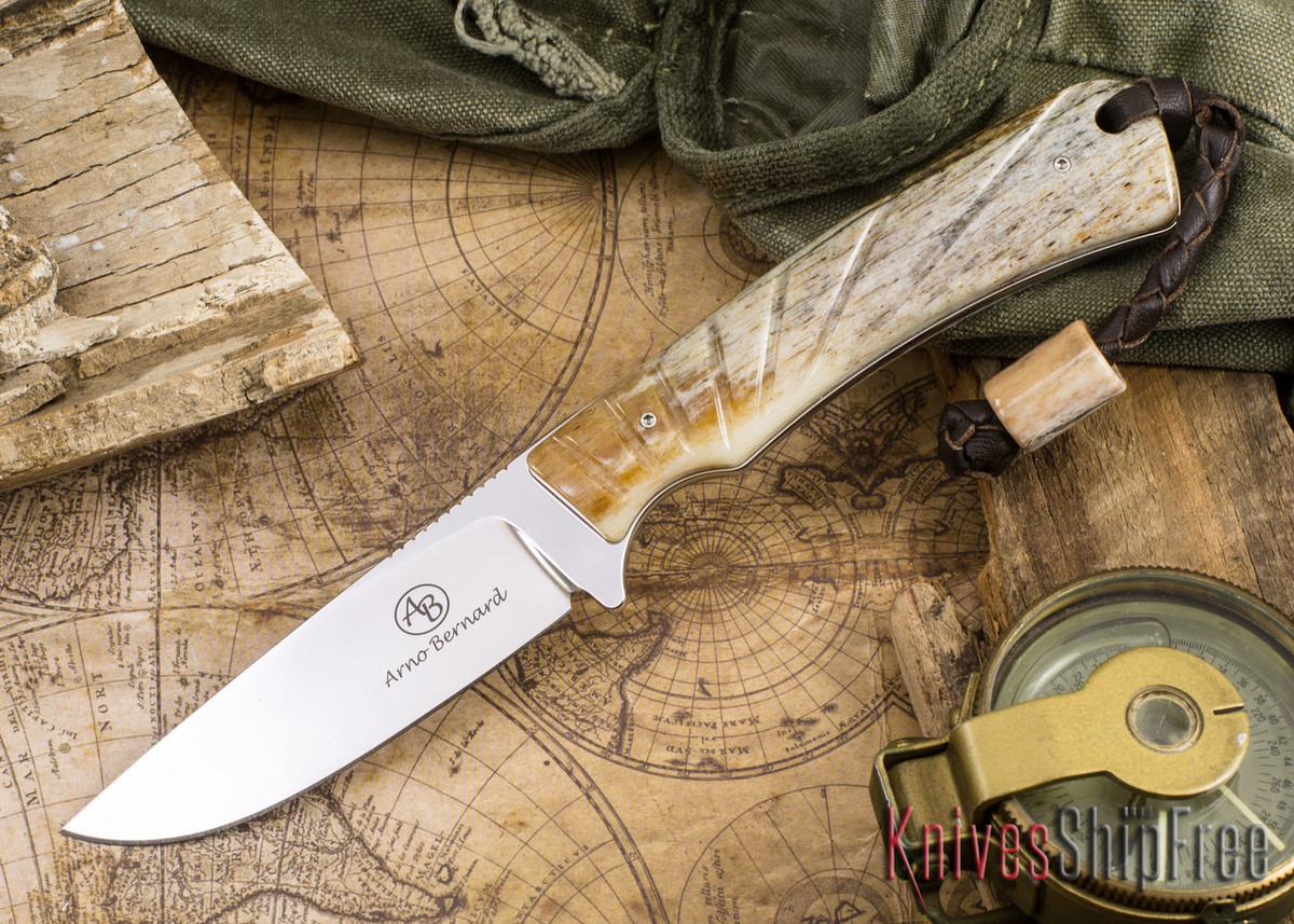 Arno Bernard Knives: Badger - Giraffe Bone 01 primary image