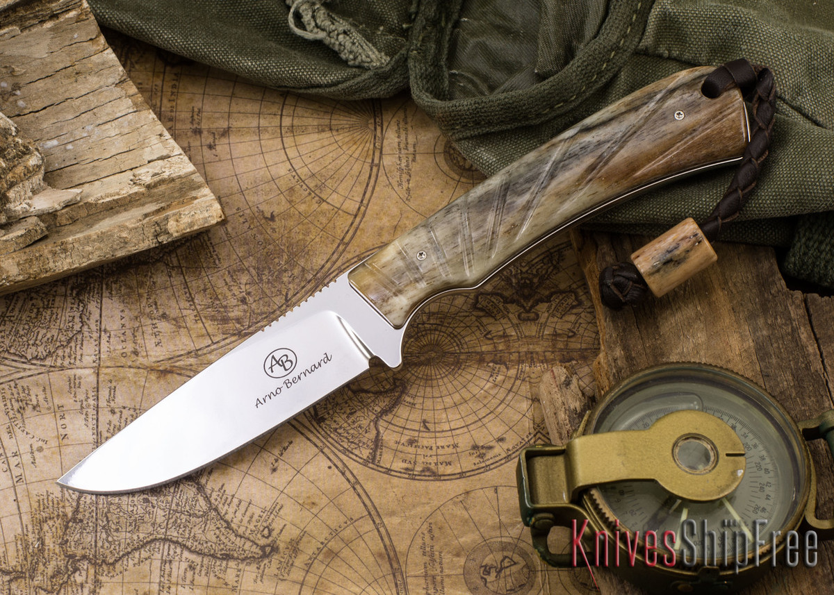 Arno Bernard Knives: Badger - Giraffe Bone 12 primary image