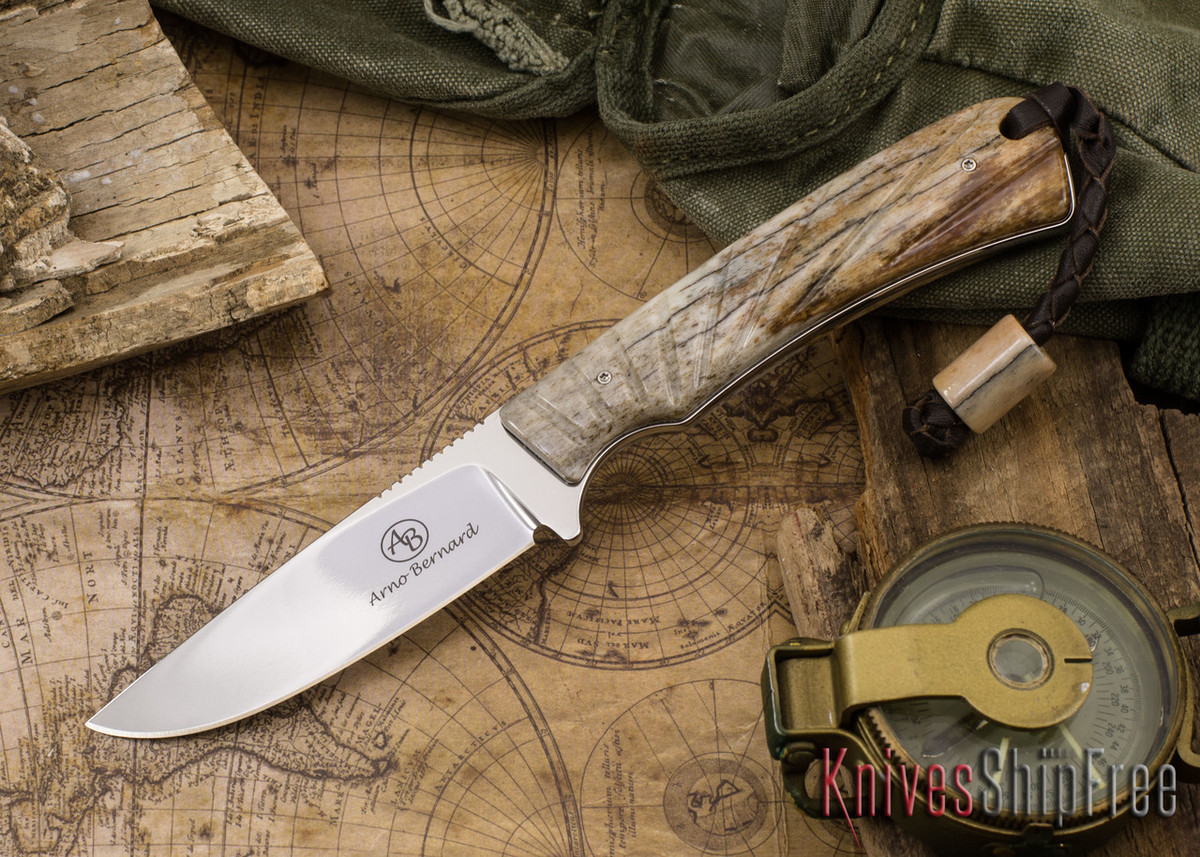 Arno Bernard Knives: Badger - Giraffe Bone 19 primary image