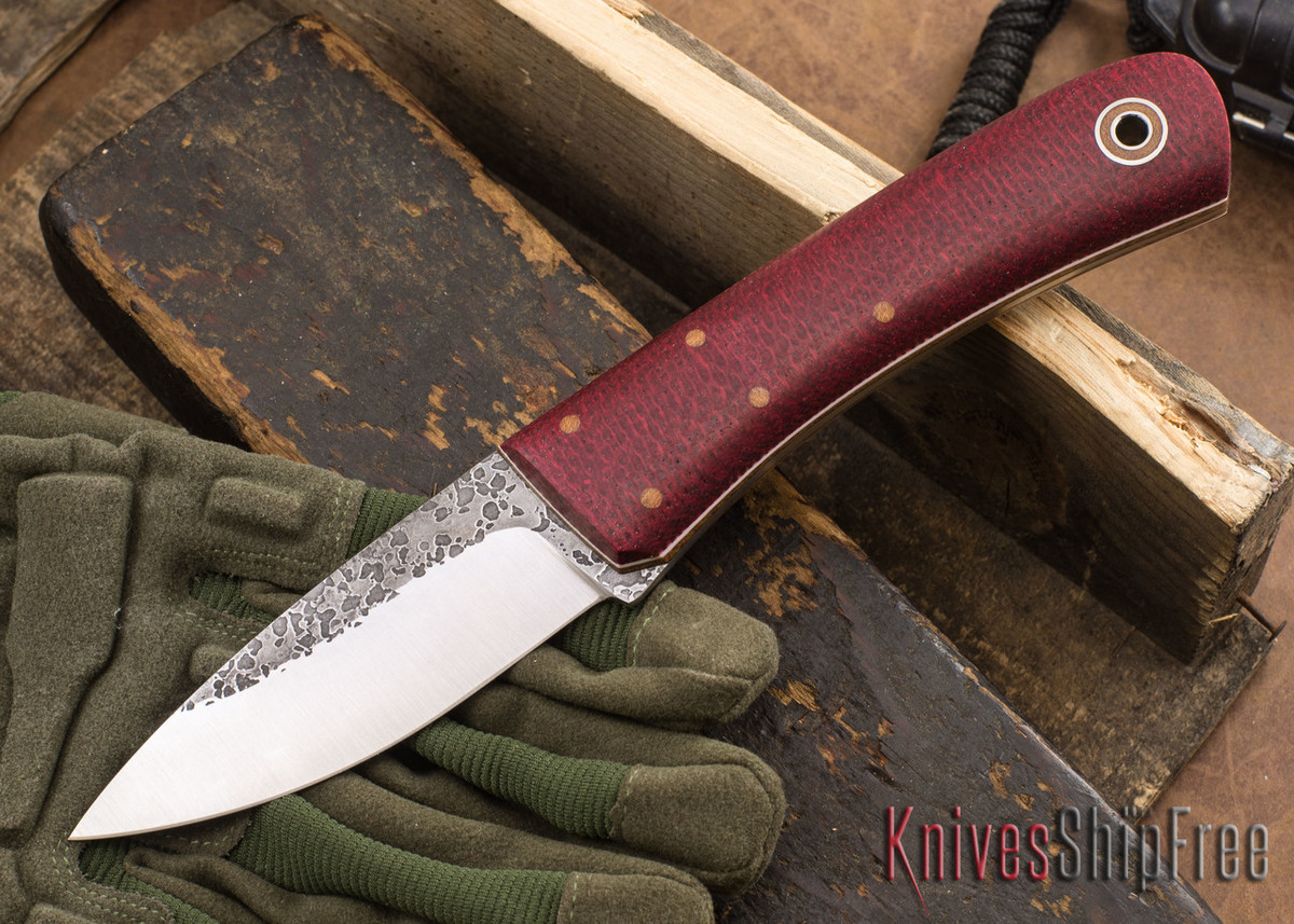 Fiddleback Forge: Bushcrafter Tasker - Ruby Burlap - Natural & White Liners - A2 Tool Steel - FF10ED004 primary image
