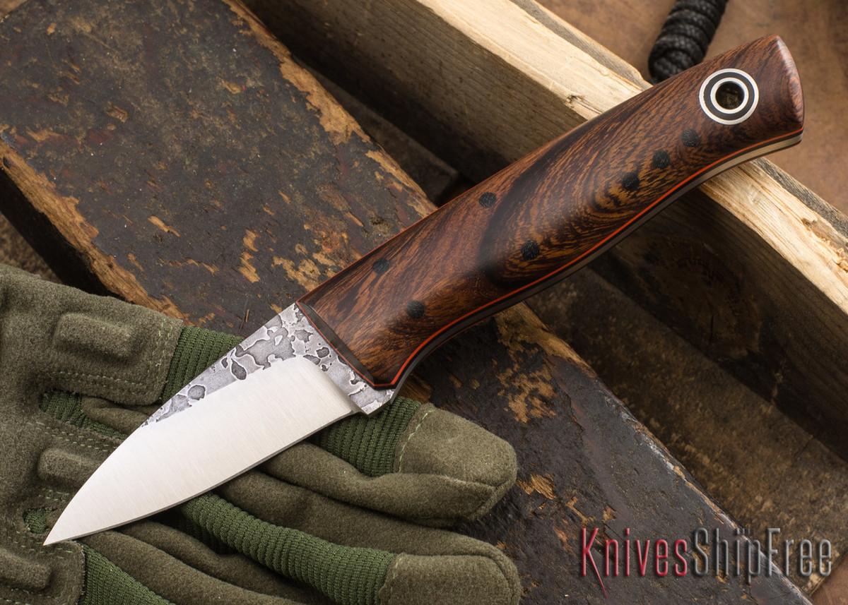 Fiddleback Forge: EDKarda - Desert Ironwood - Black & Orange Liners - A2 Tool Steel - FF10ED007 primary image