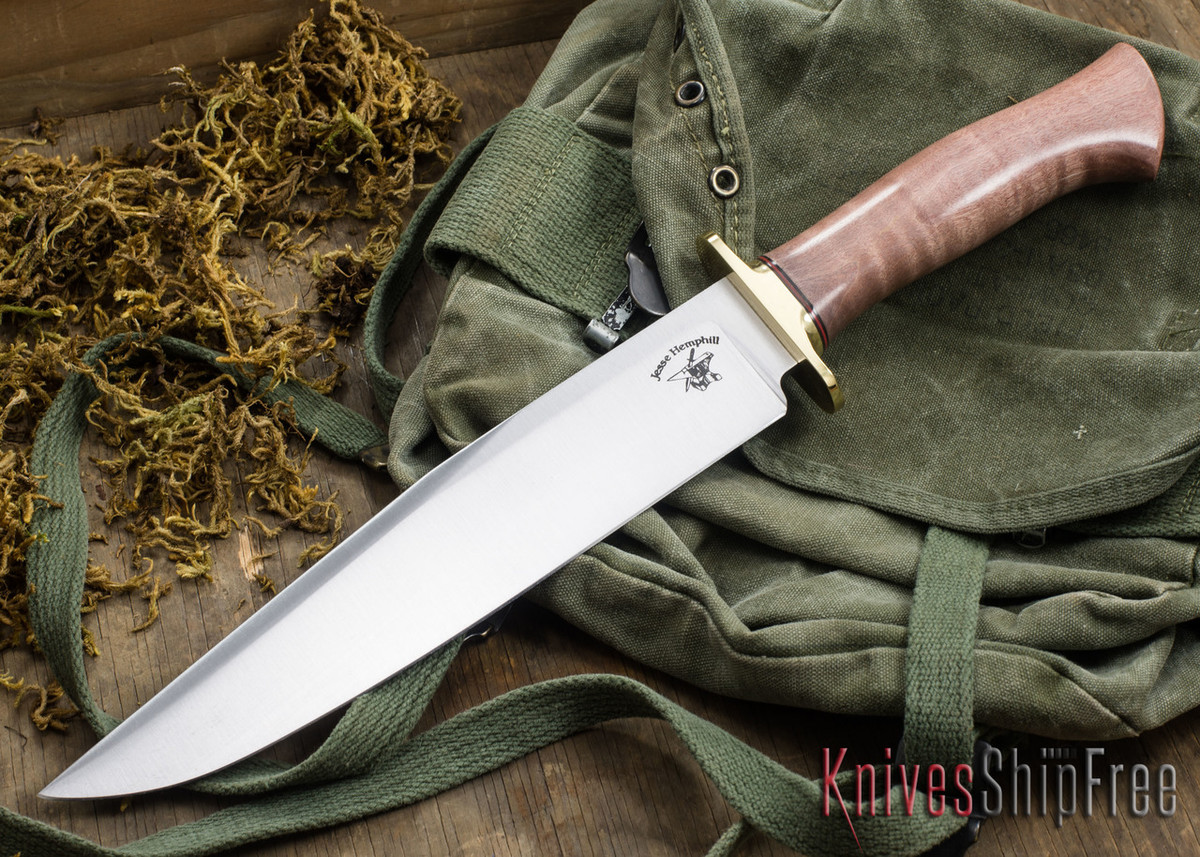 Jesse Hemphill Knives: Bowie - Curly Maple #1 primary image