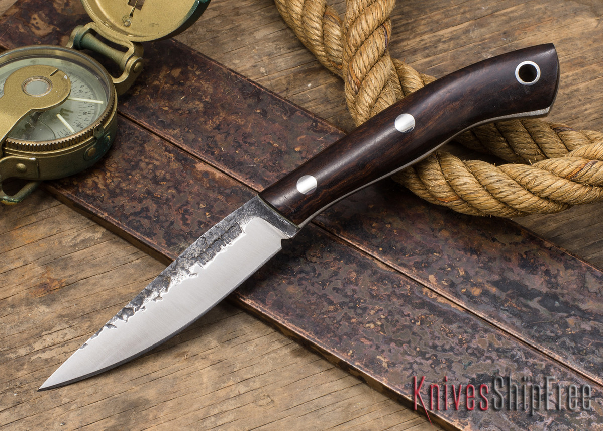 Lon Humphrey Knives: Bird & Trout - Forged 440C - Claro Walnut Burl - White Liners primary image
