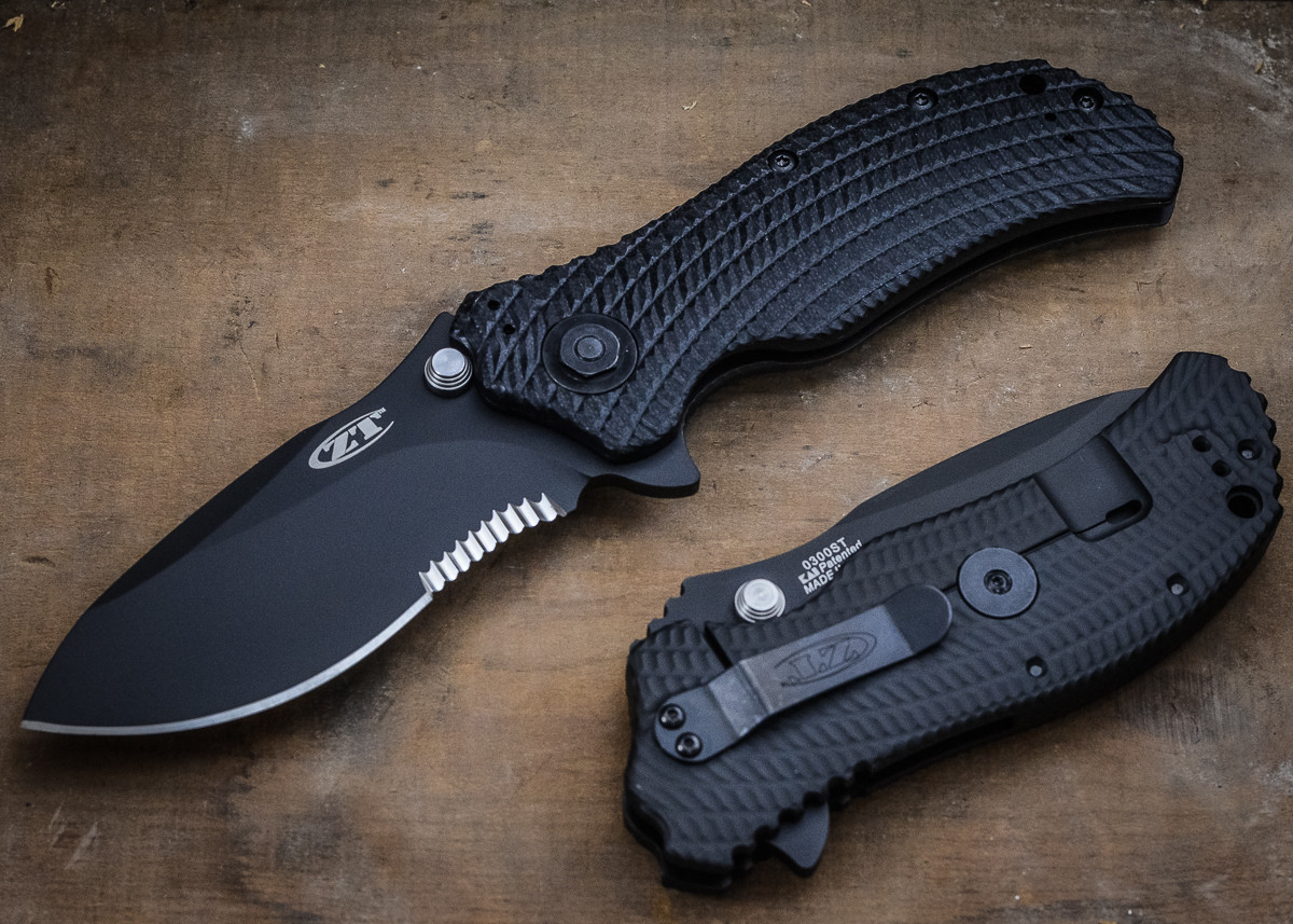 Zero Tolerance: ZT0300ST - Combat Folder - Partially Serrated Edge primary image