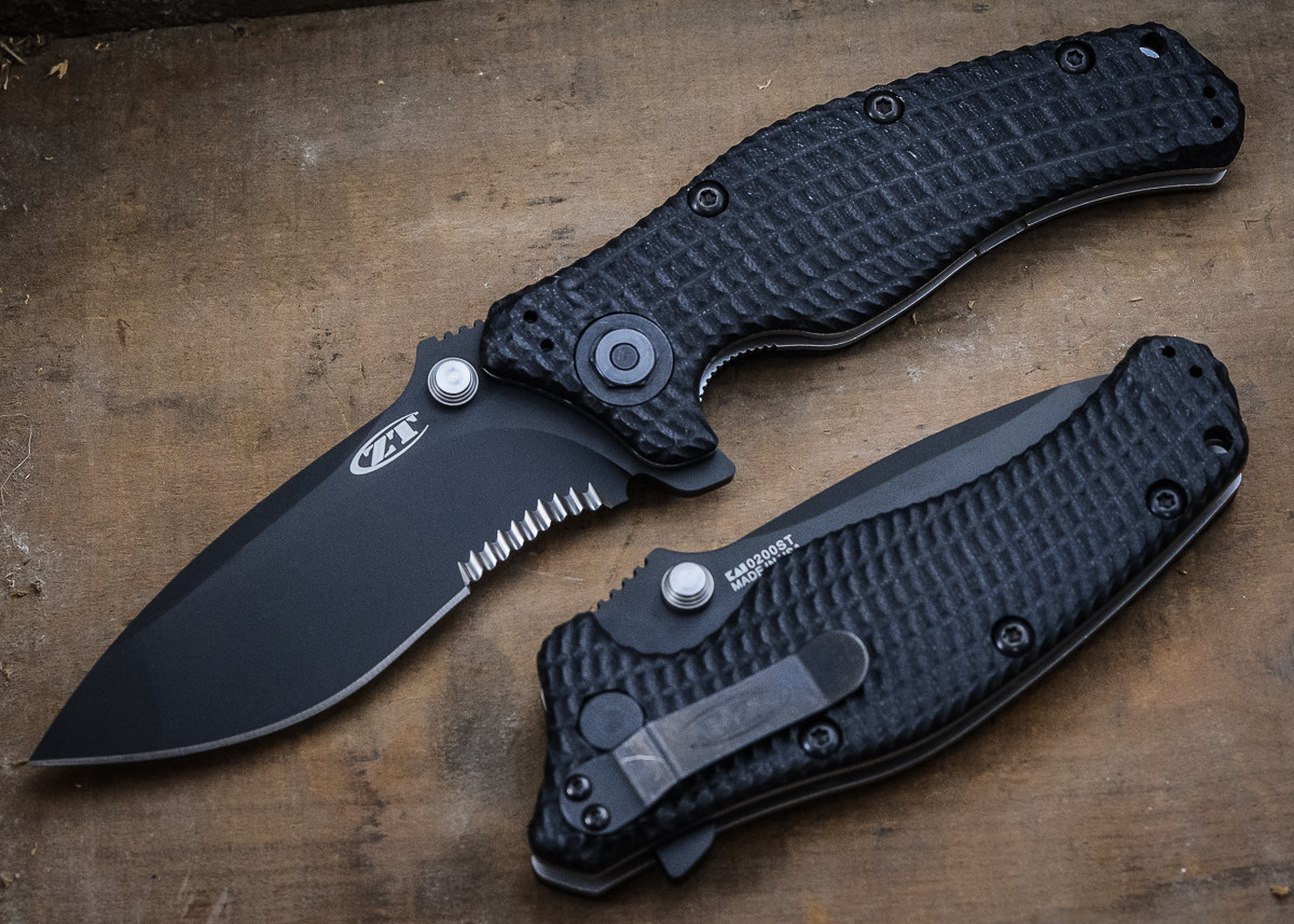 Zero Tolerance: ZT0200ST - Military Folder - Partially Serrated Blade primary image