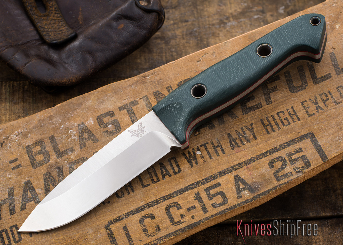 Benchmade Knives: 162 Sibert Bushcrafter - Green G-10 primary image