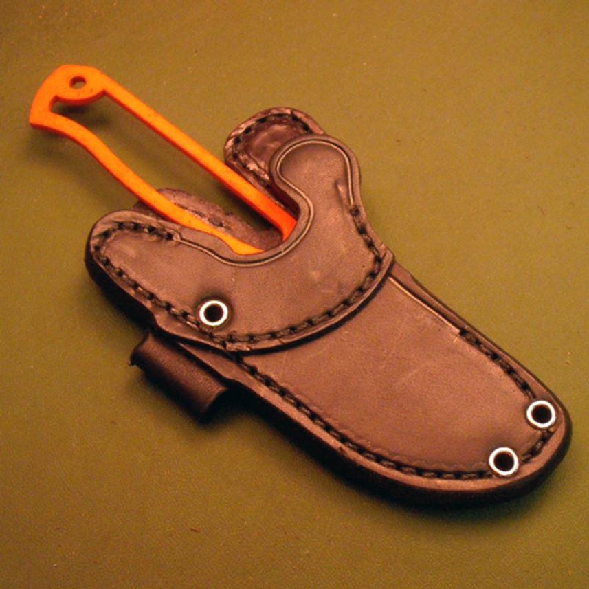 *KSF Leather: Bravo Necker Leather Belt/Neck Sheath - Black - LEFT HAND primary image