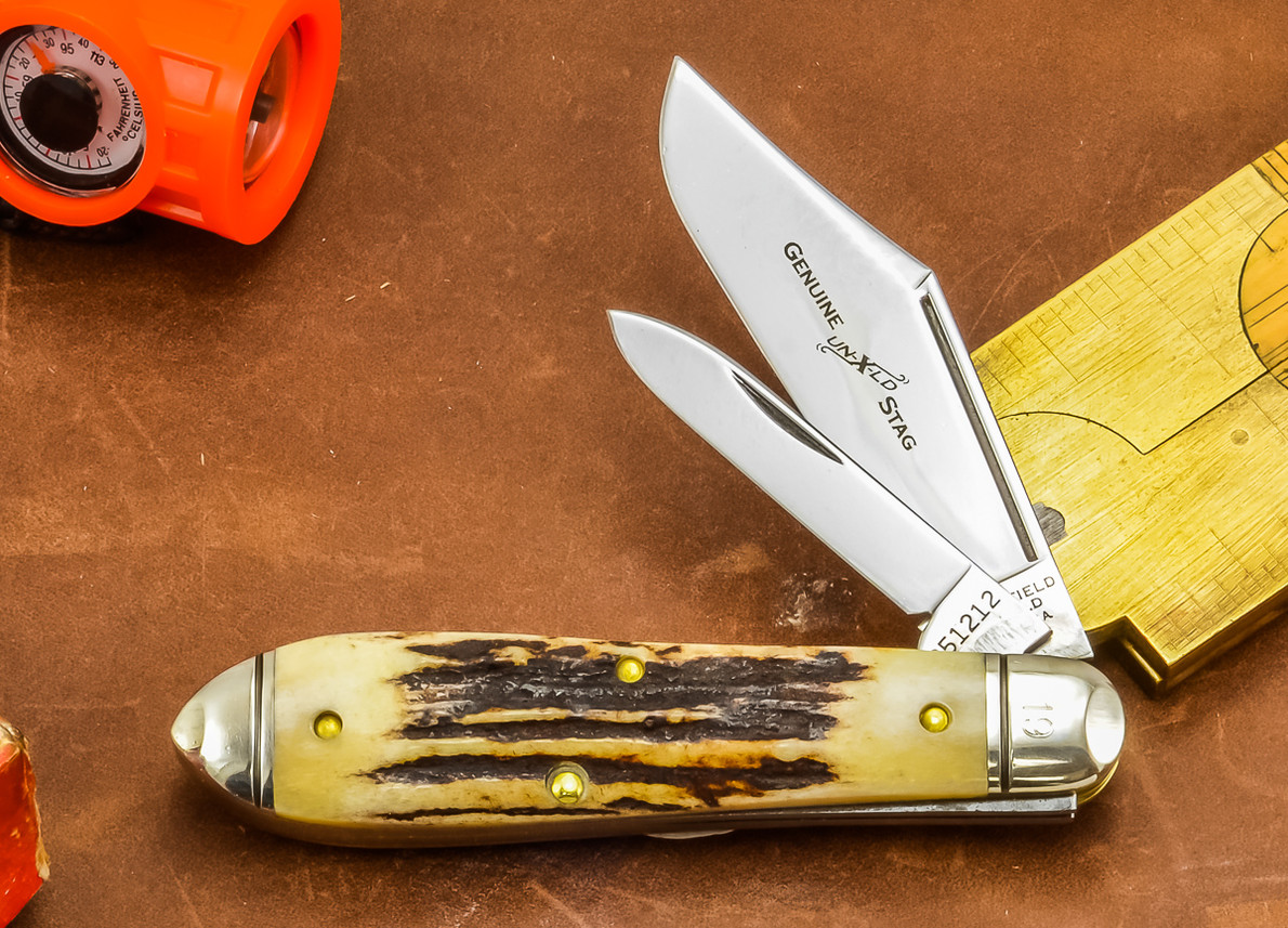 Great Eastern Cutlery: #85 Northfield Un-X-LD - Bullet End Jack - Genuine Stag - Serialized - #19 primary image