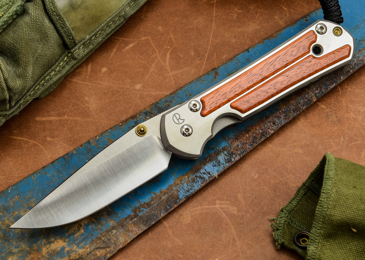 Chris Reeve Knives: Large Sebenza 21 - Amazon Bloodwood Inlay - B primary image