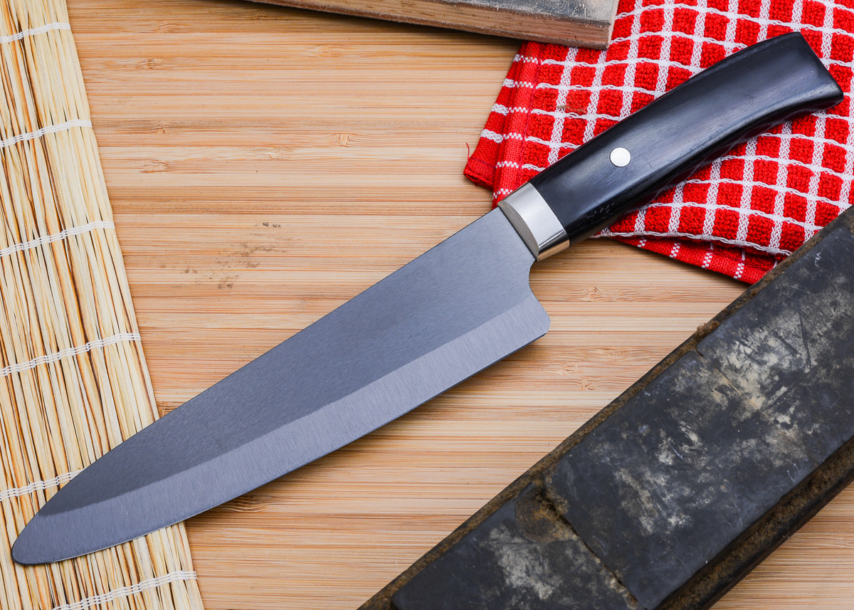 "Kyocera: Limited 7"" Ceramic Chef - Handcrafted Pakka Wood Handle primary image"
