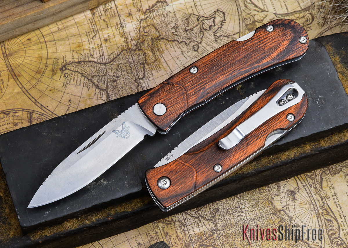 Benchmade Knives: 15056-2 HUNT - Small Summit Lake - Stabilized Wood primary image