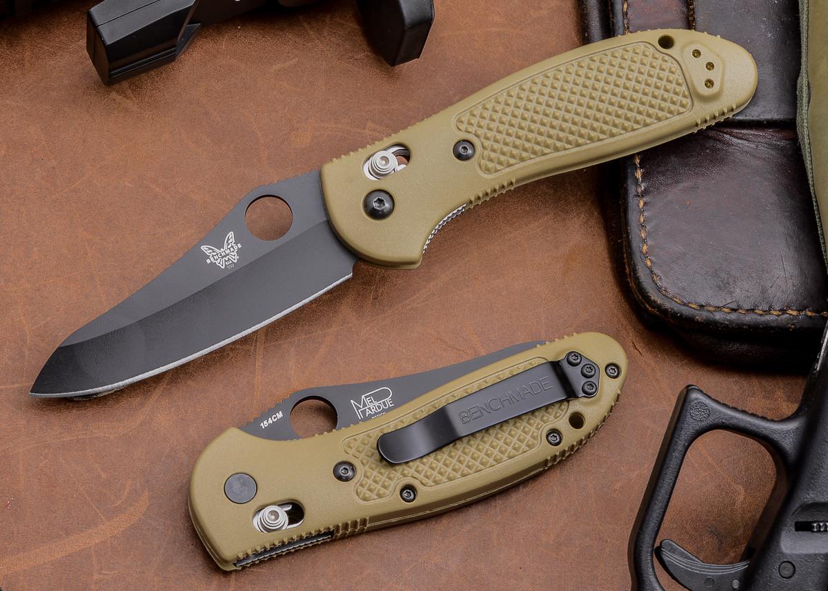 Benchmade Knives: 550BKHGSN Griptilian - Black Blade - Sand Scales primary image