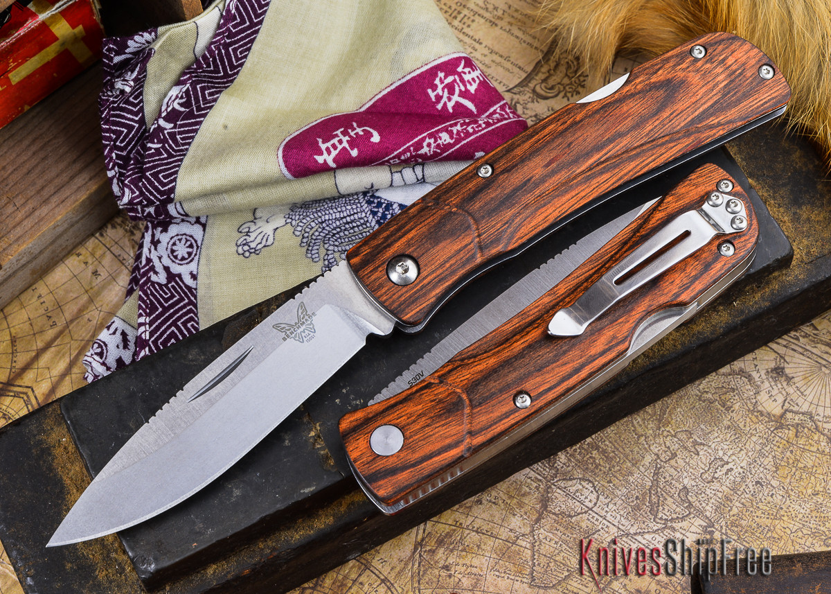Benchmade Knives: 15051-2 HUNT - Big Summit Lake - Stabilized Wood primary image