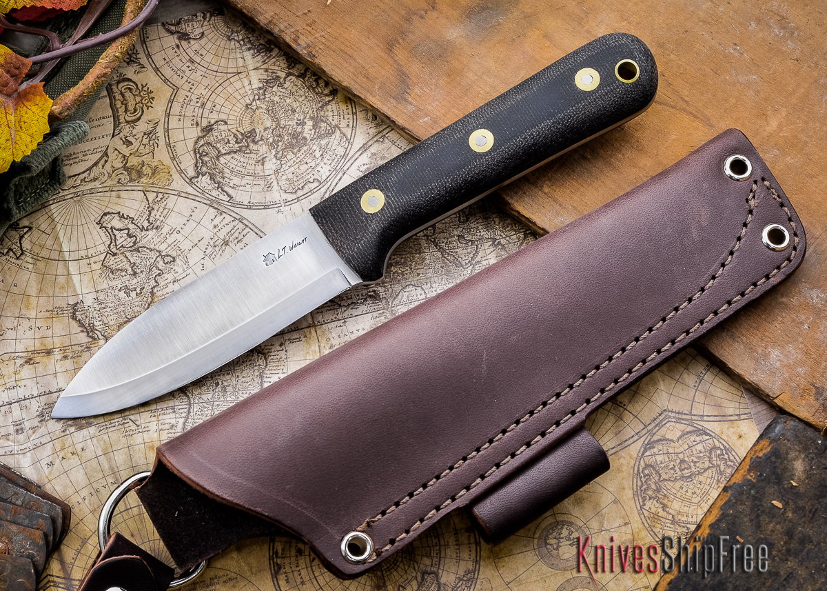 L.T. Wright Knives: Genesis - Black Micarta - Matte - Scandi Grind - A2 Steel primary image