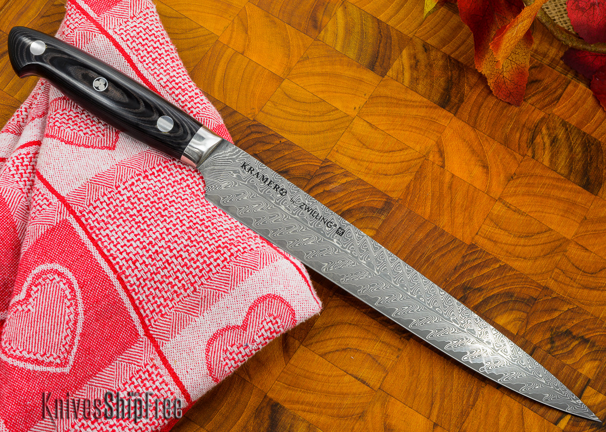 """Kramer by Zwilling: Euroline - 9"""" Carving Knife - Stainless Damascus Collection primary image"""