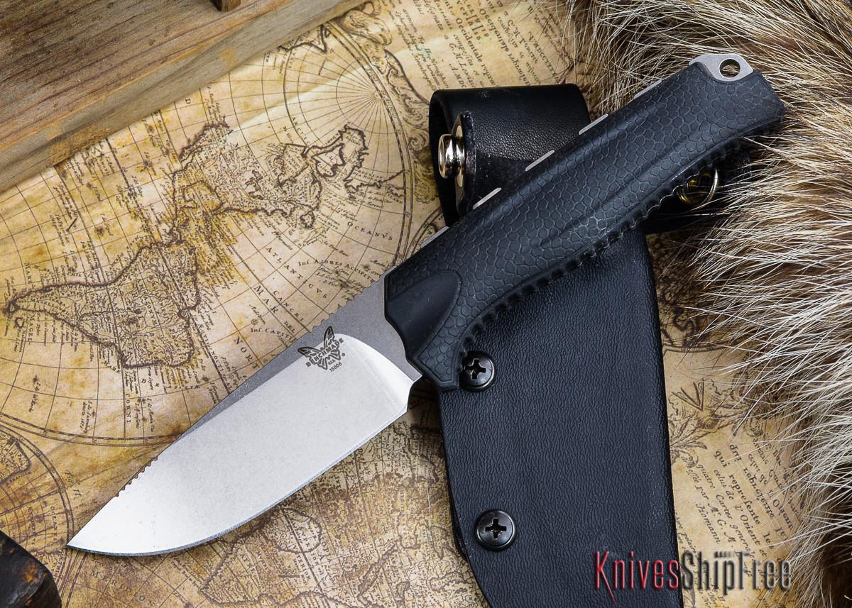 Benchmade Knives: 15008-BLK HUNT - Steep Country Hunter - Black Santoprene primary image