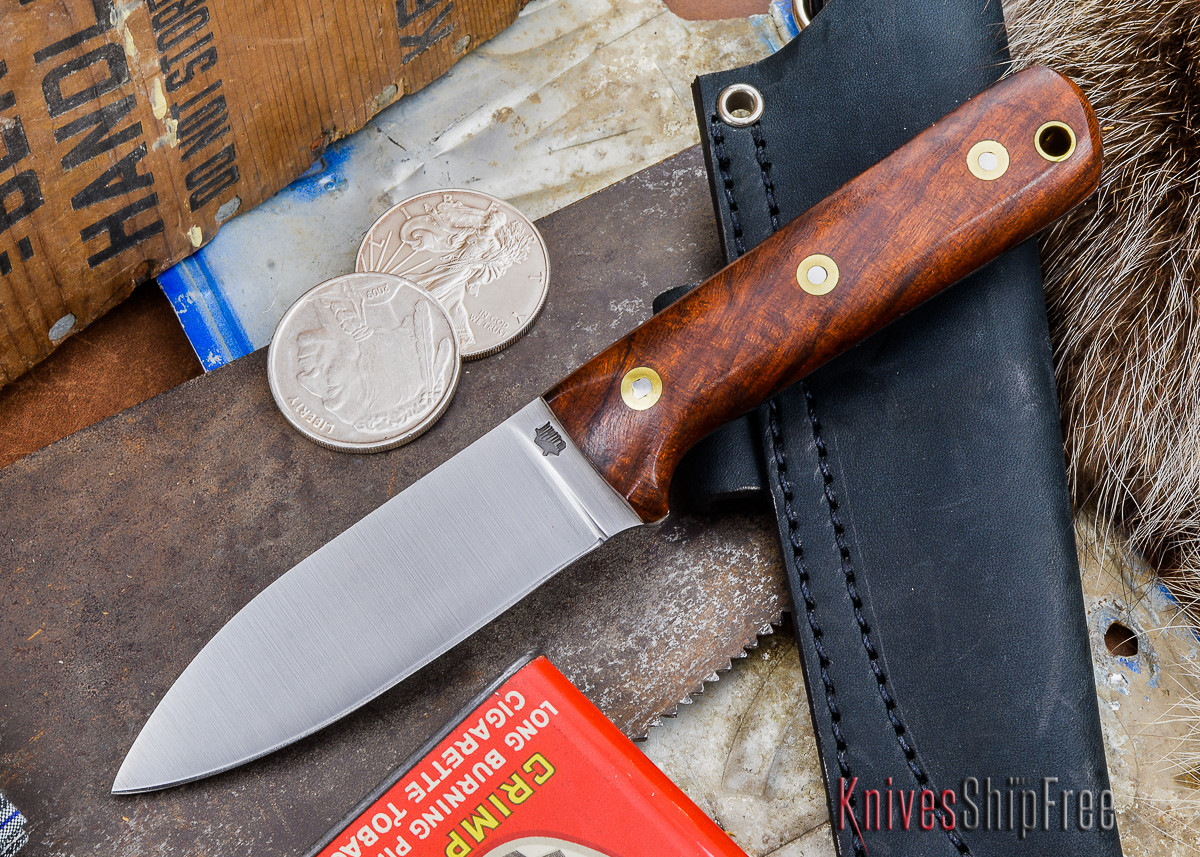 L.T. Wright Knives: Genesis - Desert Ironwood - Flat Ground - A2 Steel - #41 primary image