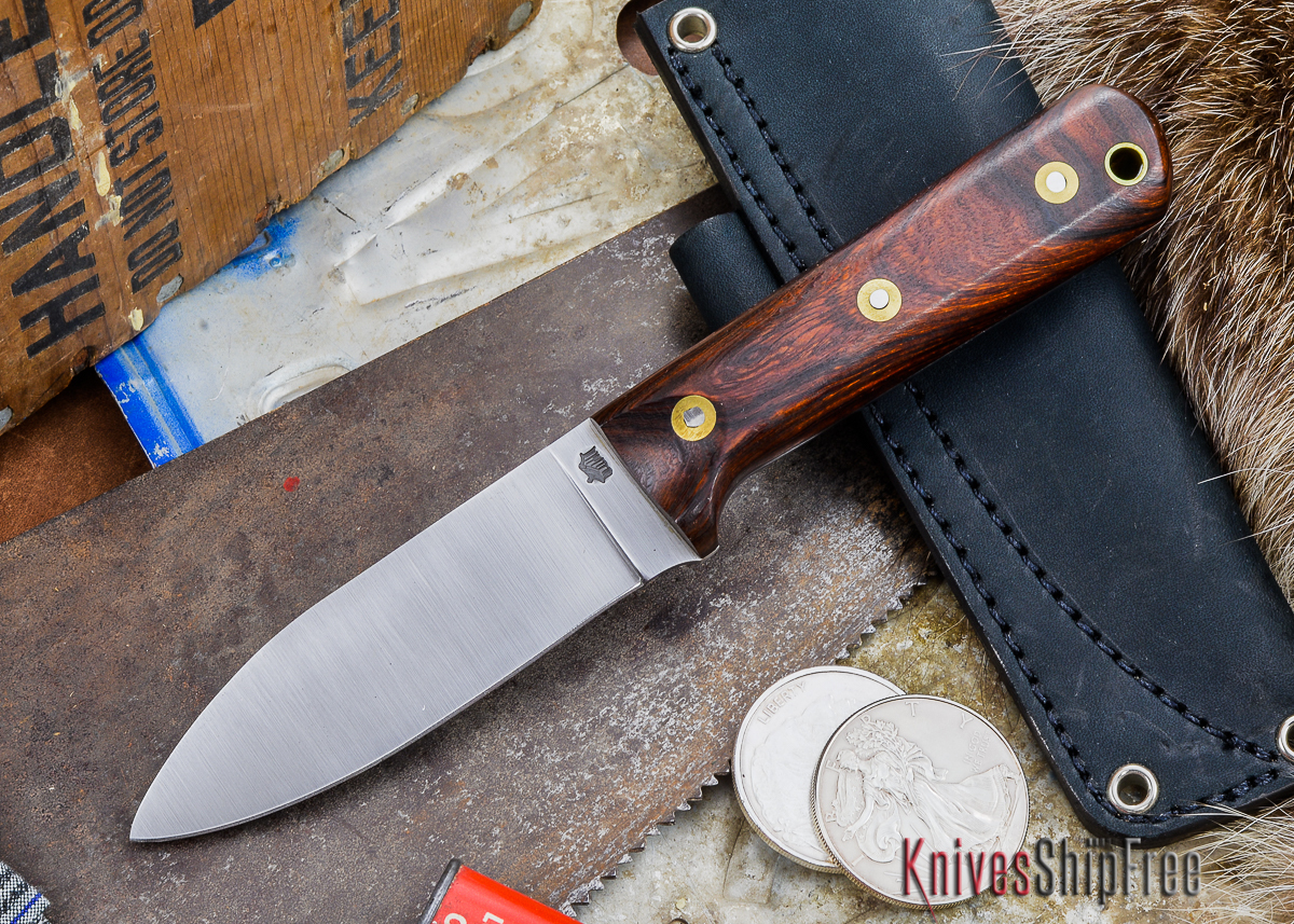 L.T. Wright Knives: Genesis - Desert Ironwood - Flat Ground - A2 Steel - #50 primary image