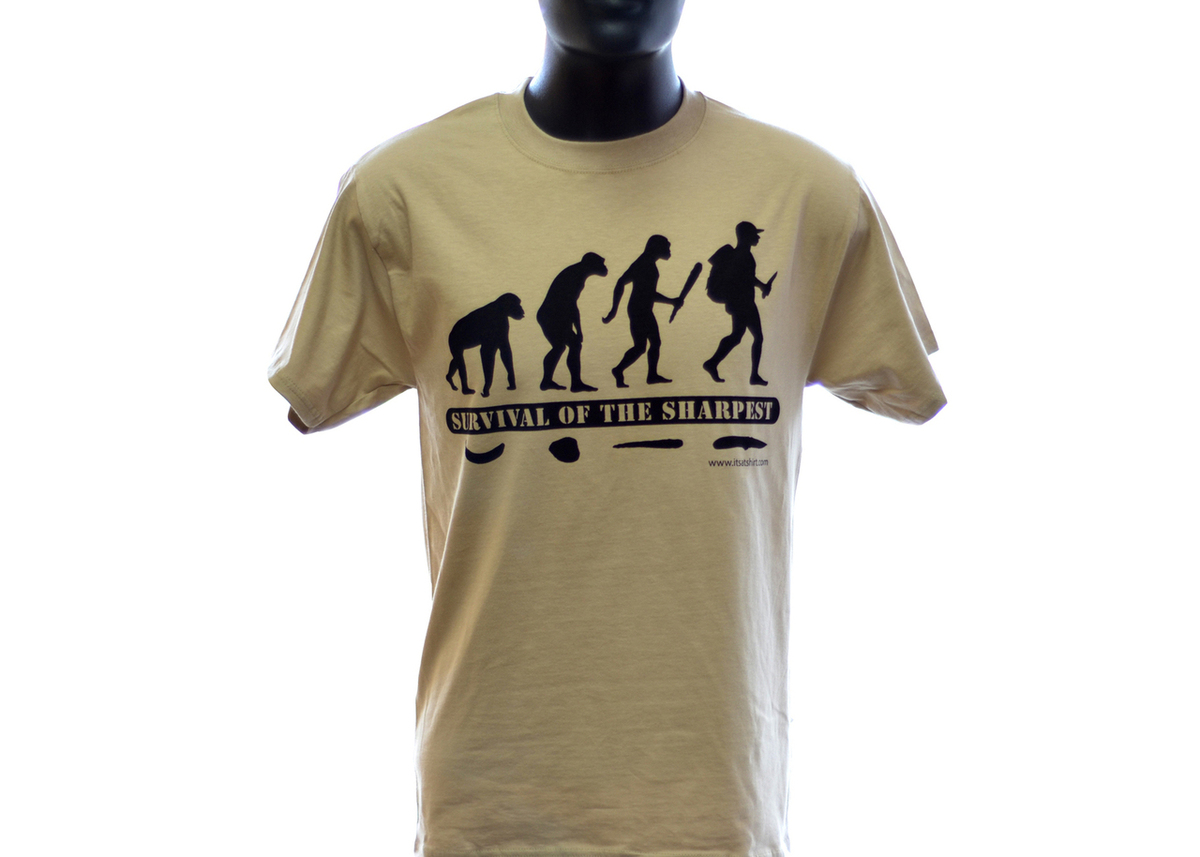 Knife T- Shirt: Survival of the Sharpest - Evolution primary image