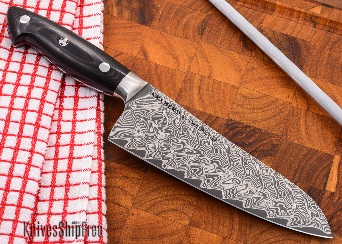 "Kramer by Zwilling: Euroline - 7"" Santoku - Stainless Damascus Collection primary image"