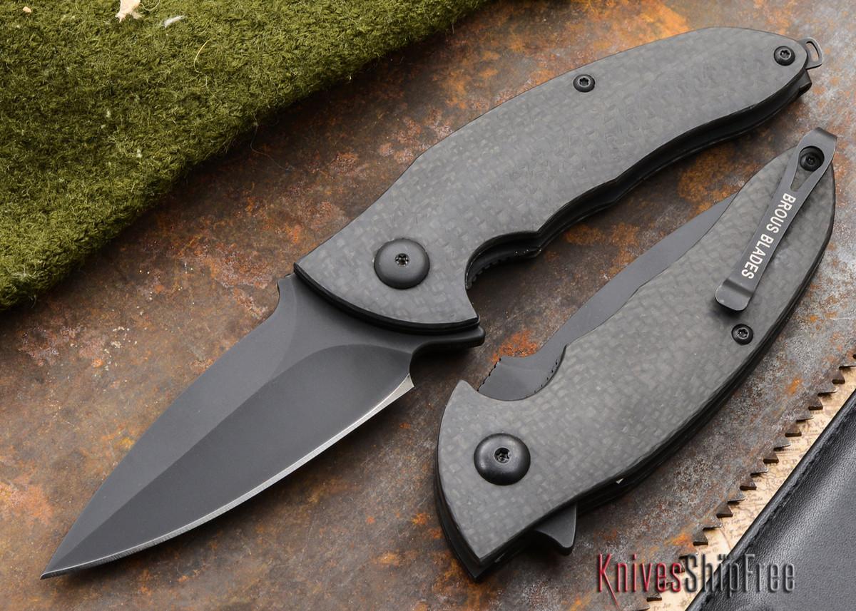 Brous Blades: Caliber - Carbon Fiber Handles - Blackout Finish primary image