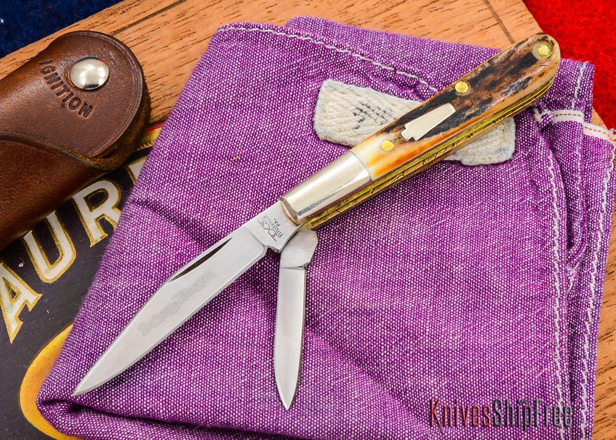 Schatt & Morgan: Keystone Series - Gentlemen's Mini Barlow - Two-Blade - Stag - 010907 primary image