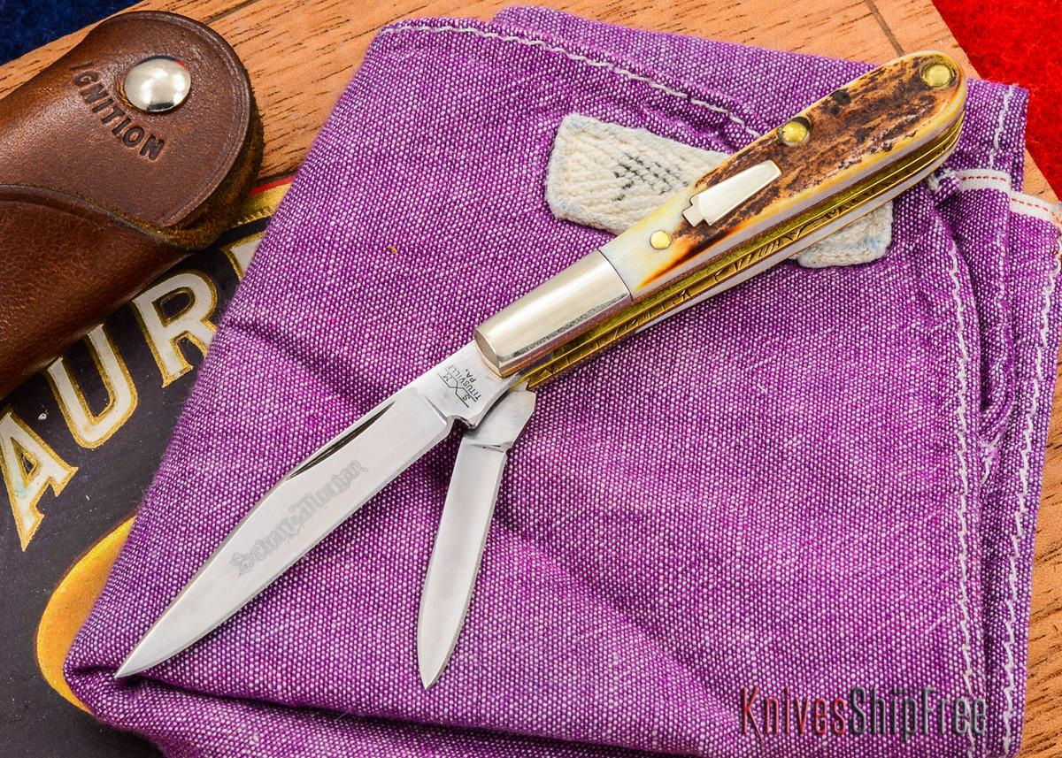 Schatt & Morgan: Keystone Series - Gentlemen's Mini Barlow - Two-Blade - Stag - 010918 primary image