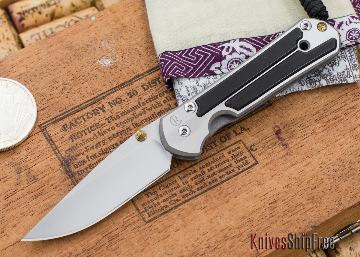 Chris Reeve Knives: Small Sebenza 21 - Gabon Ebony Inlay - 030302 primary image