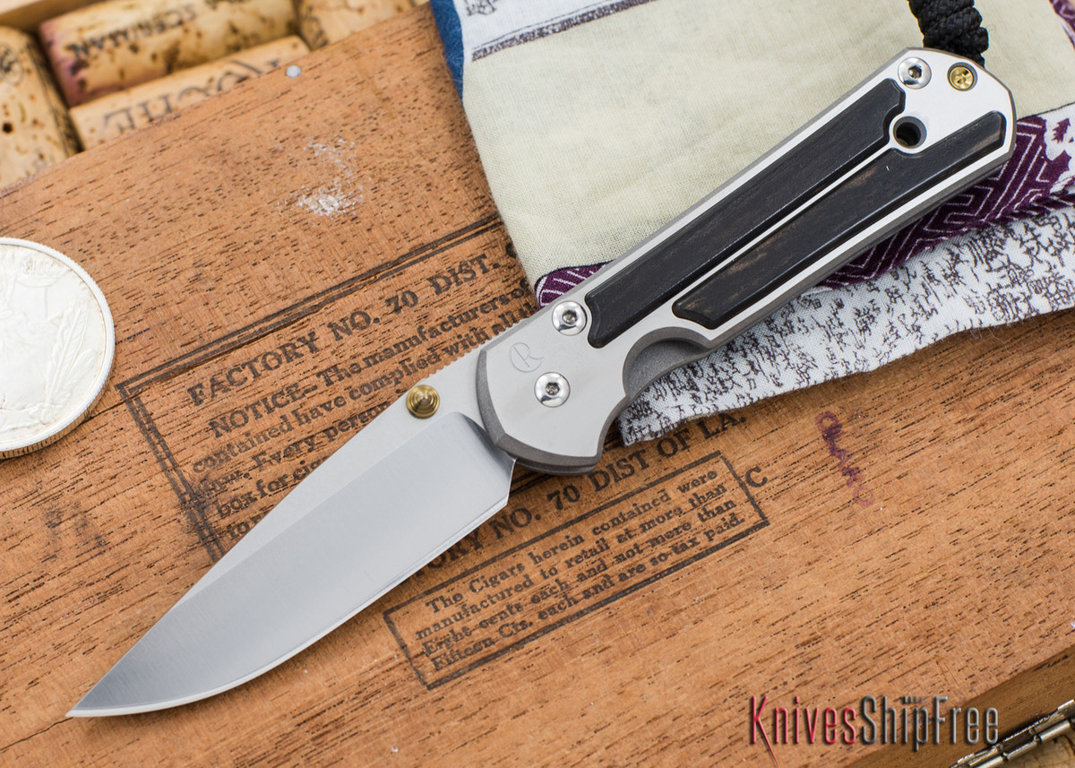 Chris Reeve Knives: Small Sebenza 21 - Gabon Ebony Inlay - 030303 primary image