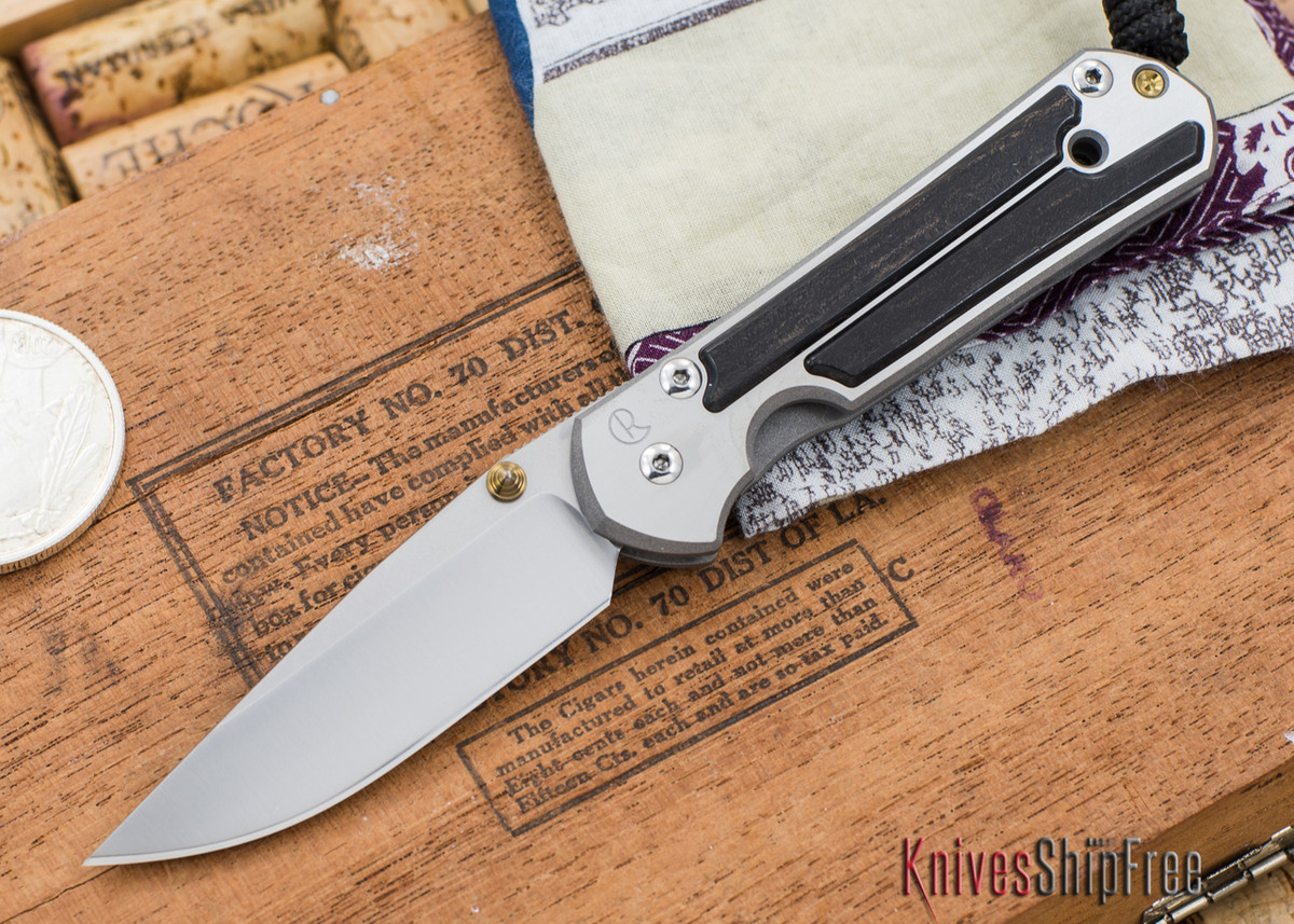 Chris Reeve Knives: Small Sebenza 21 - Gabon Ebony Inlay - 030305 primary image