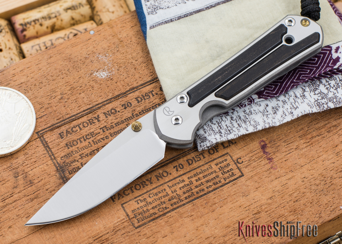 Chris Reeve Knives: Small Sebenza 21 - Gabon Ebony Inlay - 030307 primary image