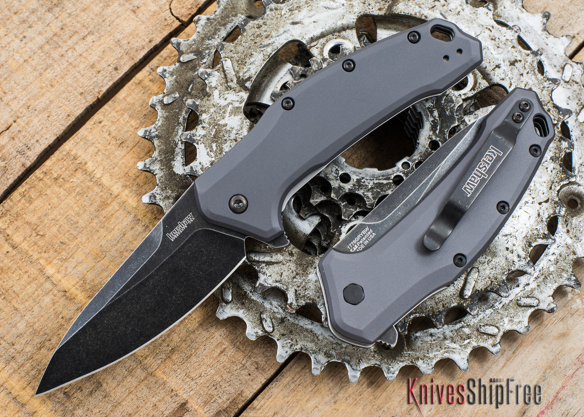 Kershaw Knives: Link - Assisted Opening - Grey Aluminum - 1776GRYBW primary image