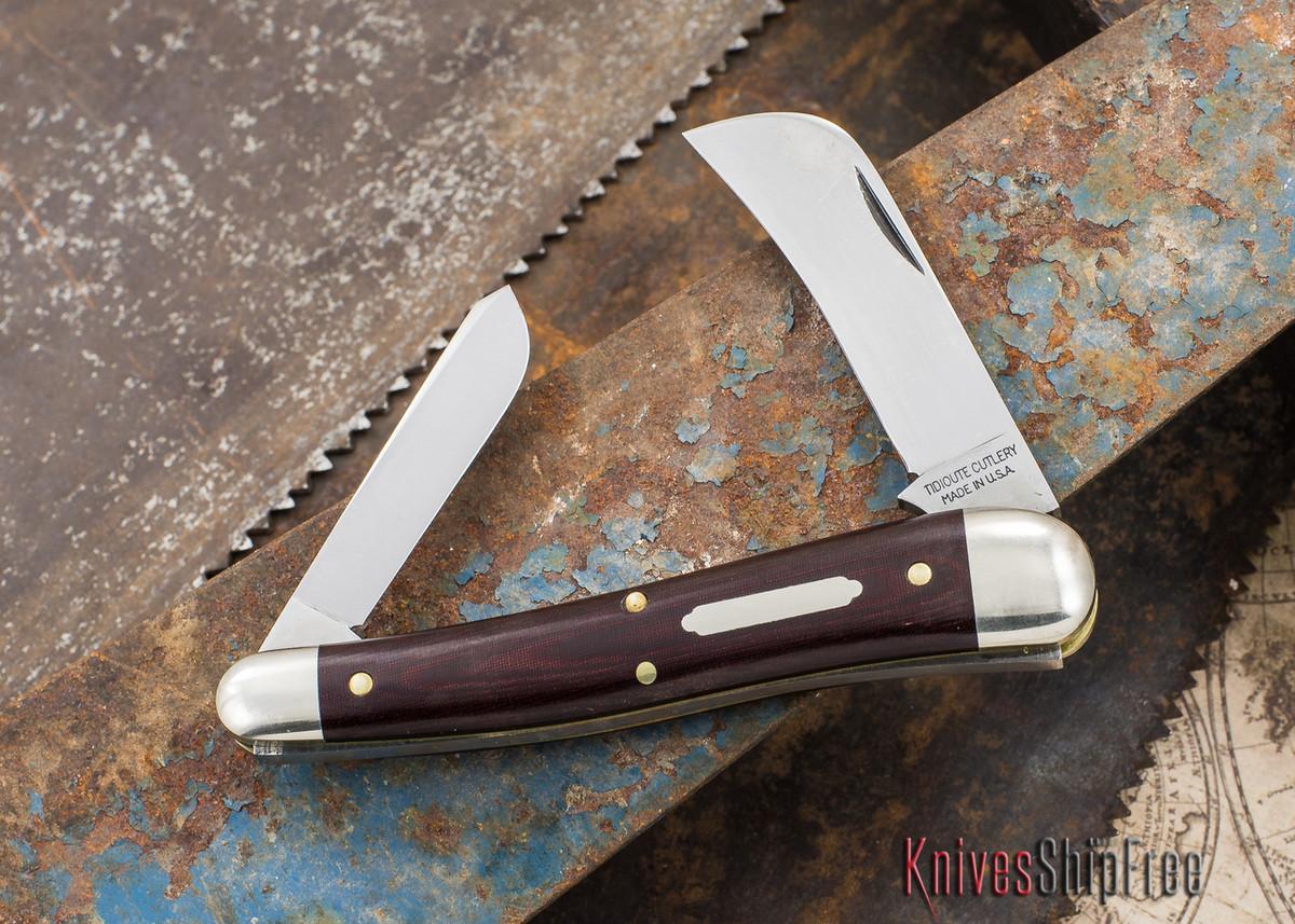 Great Eastern Cutlery: #38 - Tidioute - John Chapman - Maroon Linen Micarta primary image