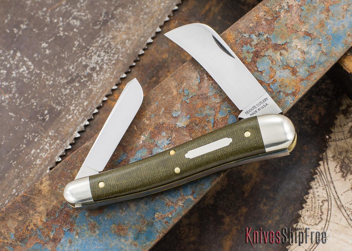 Great Eastern Cutlery: #38 - Tidioute - John Chapman - OD Green Linen Micarta primary image